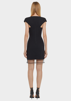 V-neck Tulle Hem Mini Dress - Versace 连衣裙