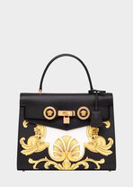 Barocco印花顶部手柄Icon手袋 - Versace Icon 系列 - image 1 of 5 in carousel