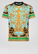 Barocco Homme印花T恤 - Versace T恤和Polo衫 - image 1 of 5 in carousel