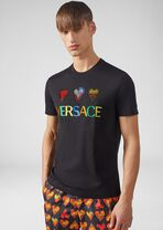 Love Versace水晶装饰男士T恤 - Versace T恤和Polo衫 - image 2 of 5 in carousel