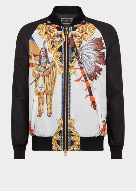 Native Americans FW92拉链卫衣 - Versace 外套&大衣