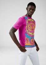 Fluo Barocco嵌饰T恤 - Versace T恤和Polo衫 - image 2 of 5 in carousel