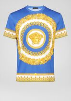 修身版Gold Barocco印花T恤 - Versace T恤和Polo衫 - image 1 of 5 in carousel
