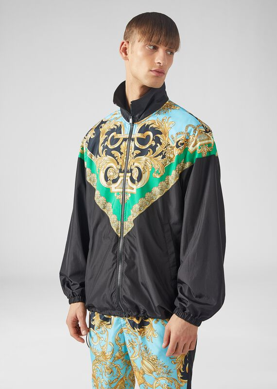 Barocco Homme印花夹克 - Versace 外套和大衣 - image 2 of 5 in carousel