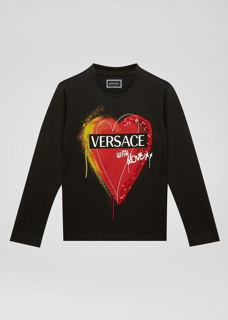 Versace With Love T恤 - Young Versace 女童服装