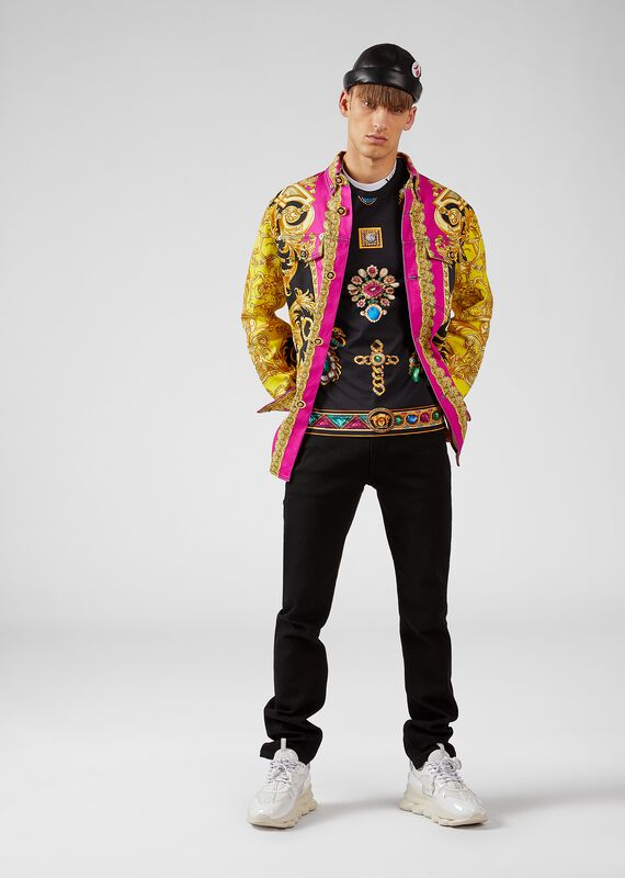 Pierres Grandes印花T恤 - Versace T恤和Polo衫 - image 3 of 5 in carousel