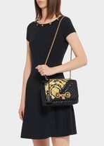 Gold Hibiscus印花中号绗缝Icon手袋 - Versace 肩背包 - image 4 of 5 in carousel