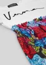 Tie-Dye Roses Kids印花T恤裙 - Young Versace 女童服装 - image 2 of 4 in carousel
