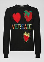 Love Versace图案羊毛衫 - Versace 针织衫 - image 1 of 5 in carousel