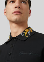 Acanthus衣领Polo衫 - Versace T恤和Polo衫 - image 2 of 5 in carousel