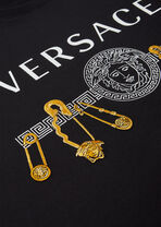 Safety Pin印花T恤 - Versace T恤和Polo衫 - image 3 of 3 in carousel