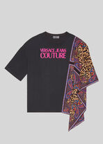 Paisley Leopard软绸Logo T恤 - Versace T桖&运动衫 - image 1 of 4 in carousel